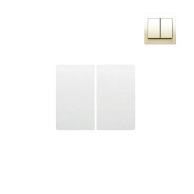Tecla doble interruptor blanco BJC Iris