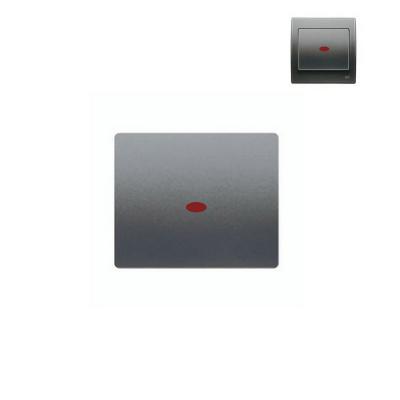 Tecla interruptor con luminoso acero neptuno BJC Iris 18705-ANL