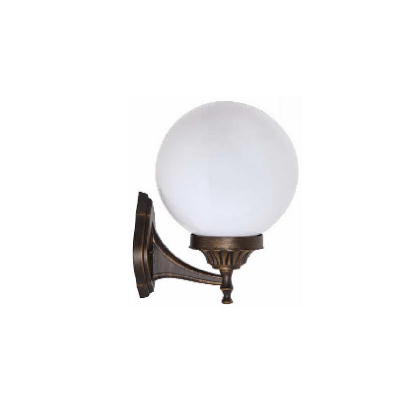 Aplique clásico tipo bola para pared color oro viejo