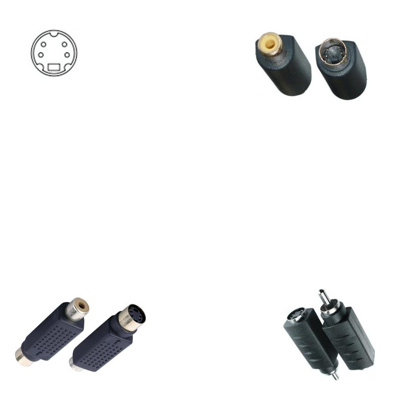 Adaptador mini din 4 pin a rca