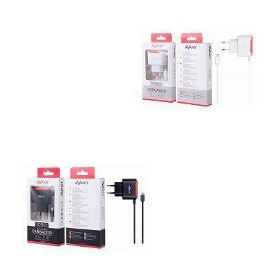 Cargador de corriente con cable micro USB