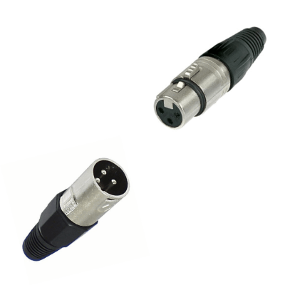 Clavija canon 3 contactos aerea