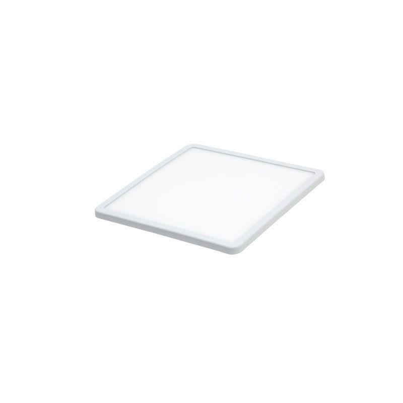 Downlight cuadrado led ajustable para empotrar color blanco