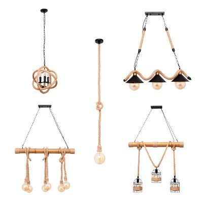 Lámpara colgante con soga varios modelos