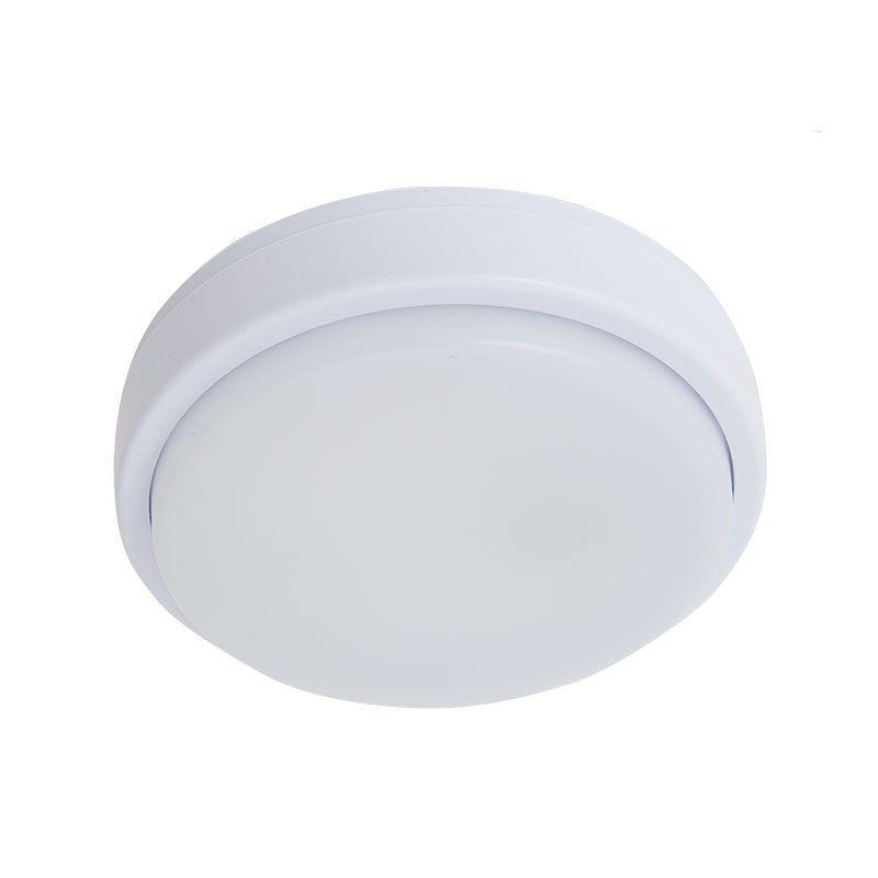 Aplique led redondo color blanco para exterior