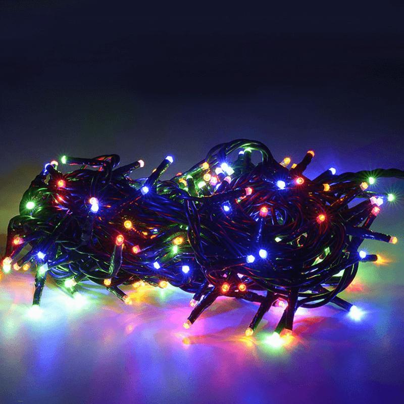 Guirnalda led 120 luces multicolor con 8 funciones de movimiento