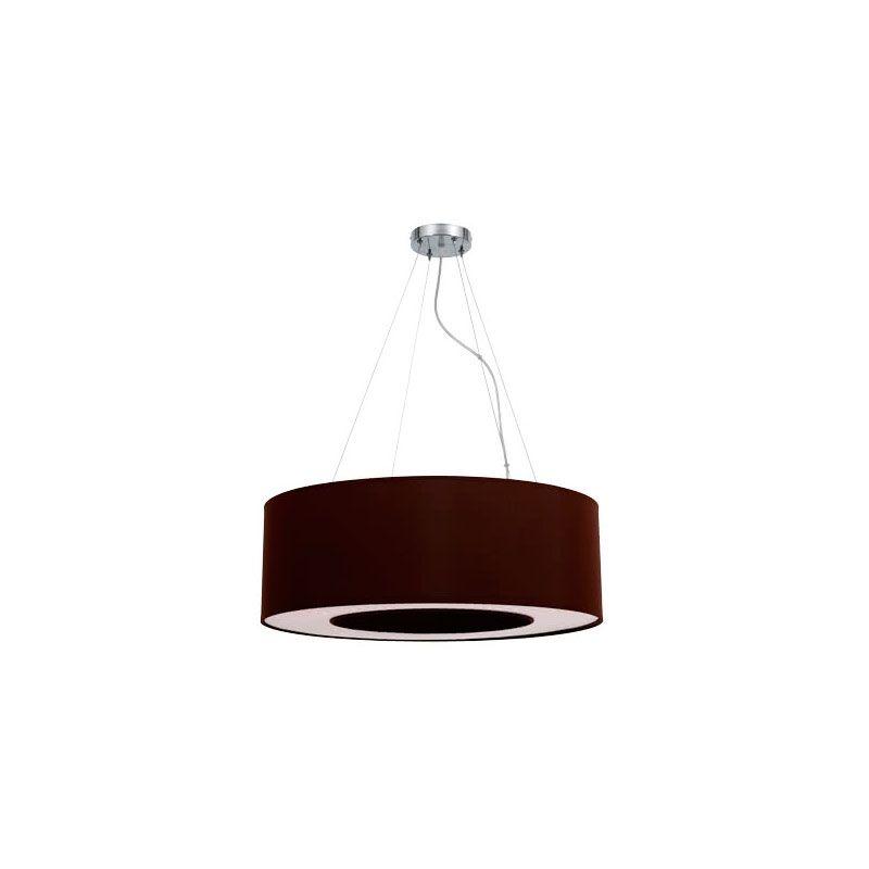 Lámpara colgante forma de anillo marrón