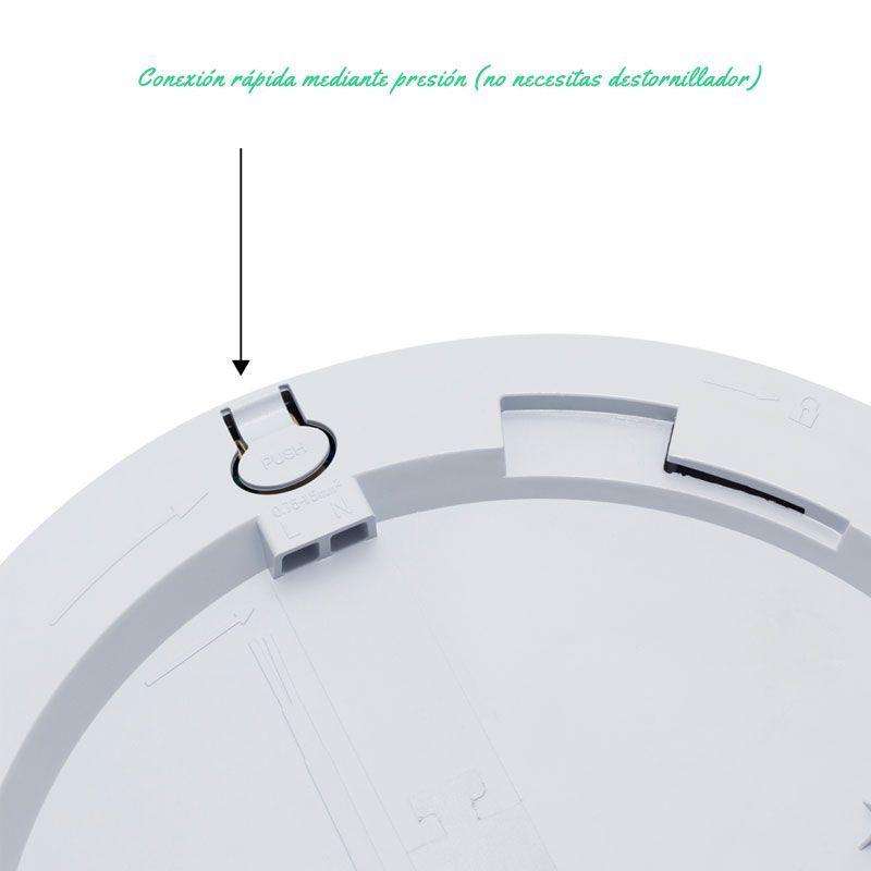 Plafon led con sensor de movimiento conexion rapida