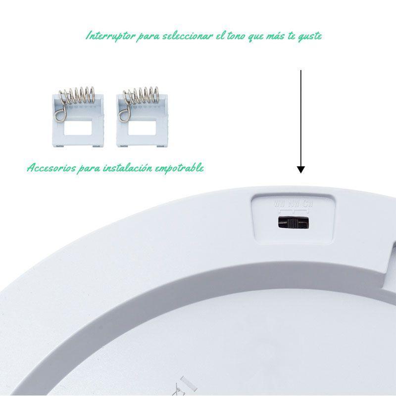 Plafon led con sensor de movimientos y tono seleccionable