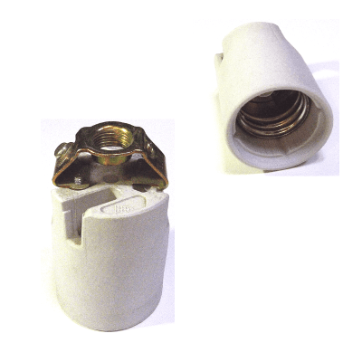 Portalámparas de cerámica E40