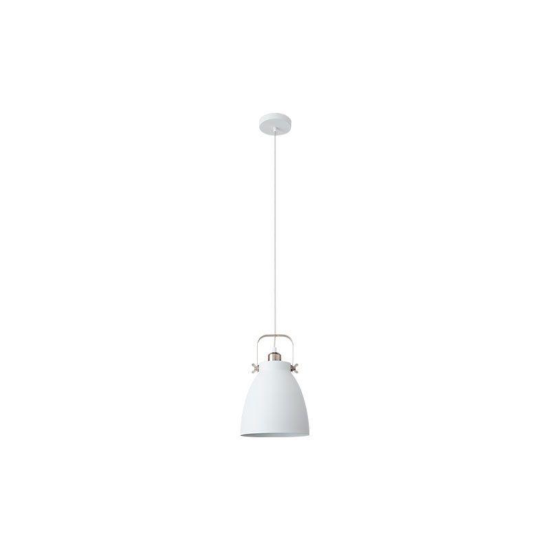 Lámpara colgante forma de campana color blanco estilo nórdico