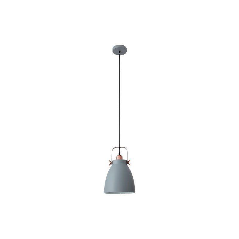 Lámpara colgante forma de campana color gris estilo nórdico