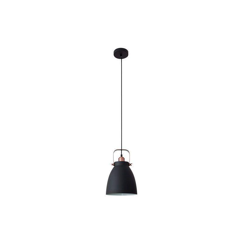 Lámpara colgante forma de campana color negro estilo industrial
