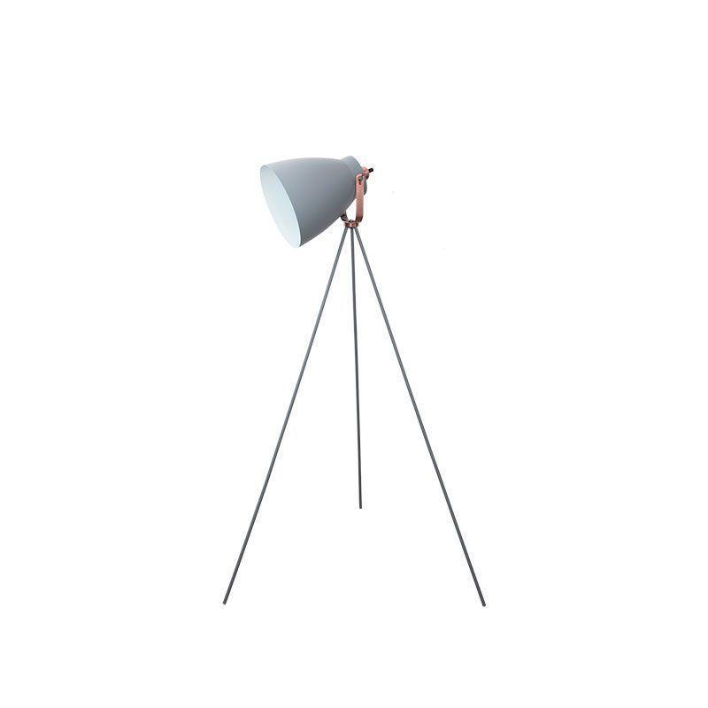 Lámpara trípode estilo nórdico color gris
