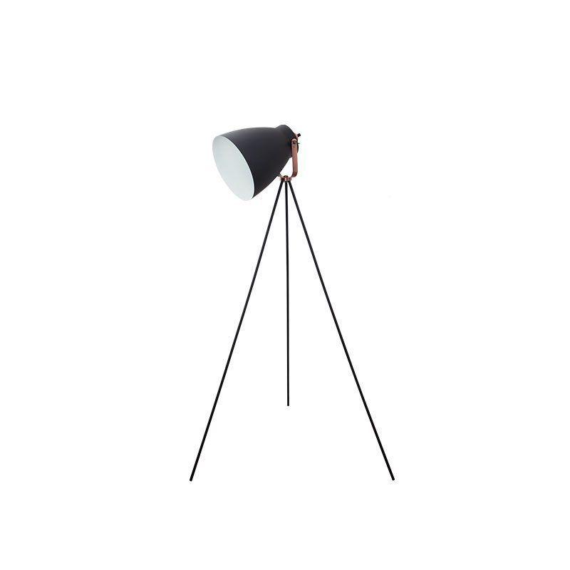 Lámpara trípode estilo nórdico color negro
