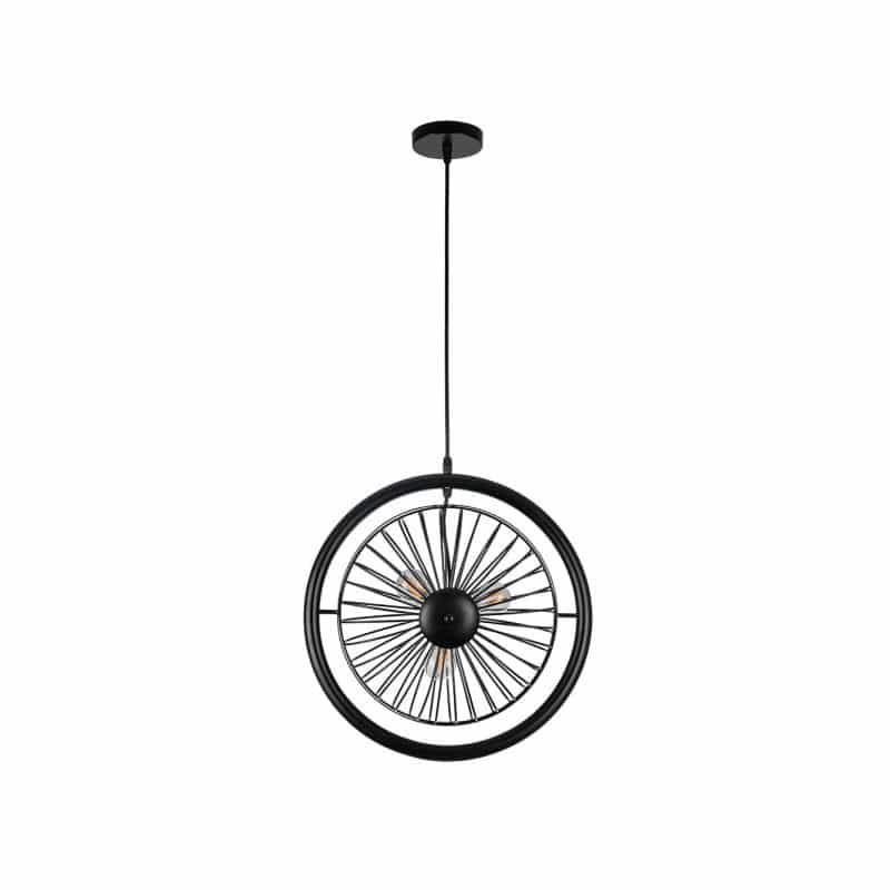 Lámpara colgante en forma de rueda