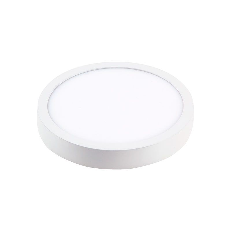 Plafón led redondo superficie blanco extrafino