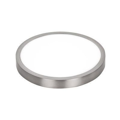 Plafón led redondo superficie níquel satinado extrafino