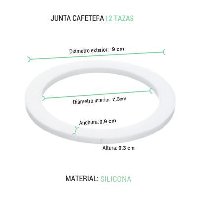 Junta cafetera 12 tazas Oroley silicona
