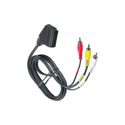 Cable euroconector con 3 rca macho
