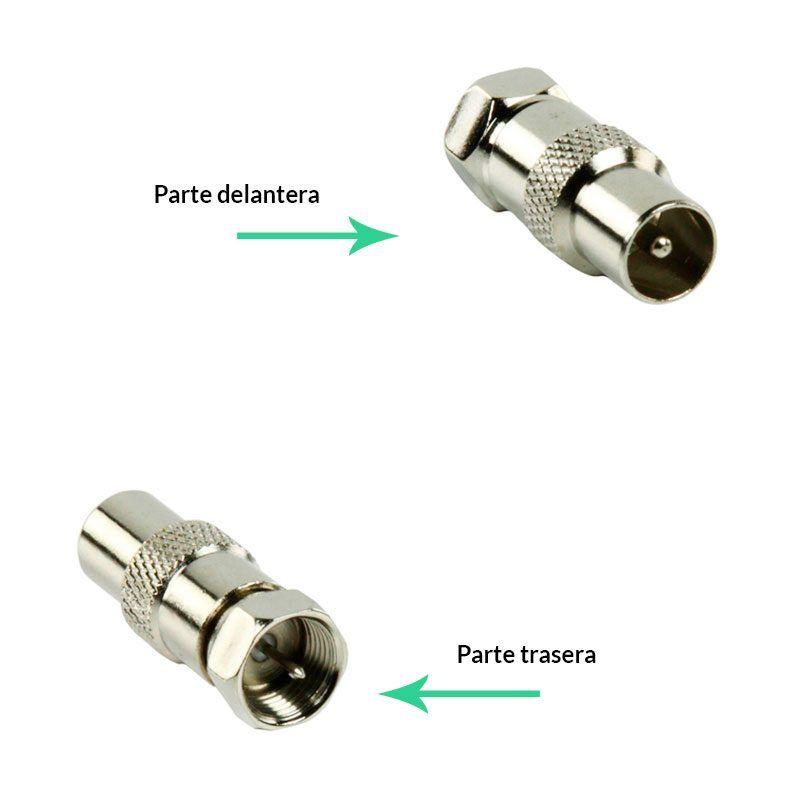 Conector F macho a clavija macho antena conexión trasera a rosca