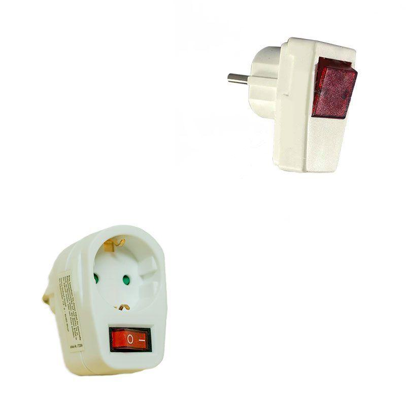 Enchufe con interruptor incorporado