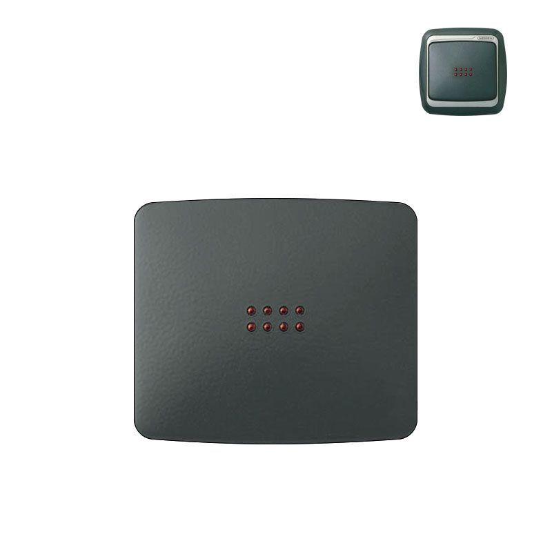 Tecla interruptor con visor gris grafito niessen arco