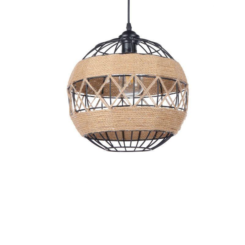 Lámpara colgante con cuerda forma de bola