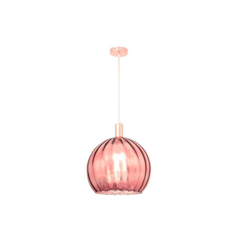 Lámpara de techo rosa oro serie Zamora