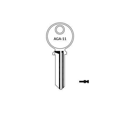 Llave AGA-11 plana serreta
