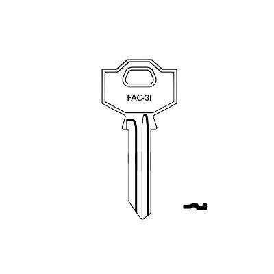 Llave FAC-3I plana serreta