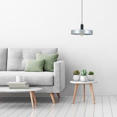 lampara colgante circular para bombilla E27 estilo industrial