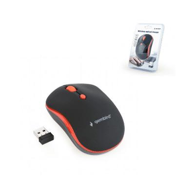 Ratón inalámbrico óptico Gembird negro rojo