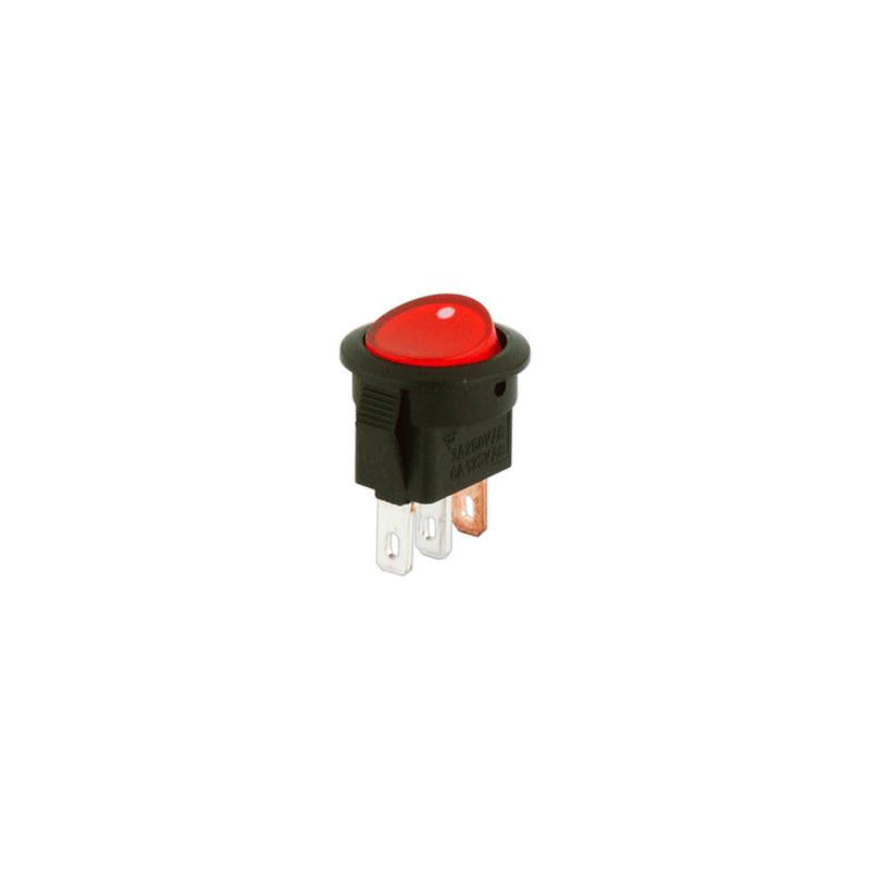 Interruptor redondo micro con luminoso