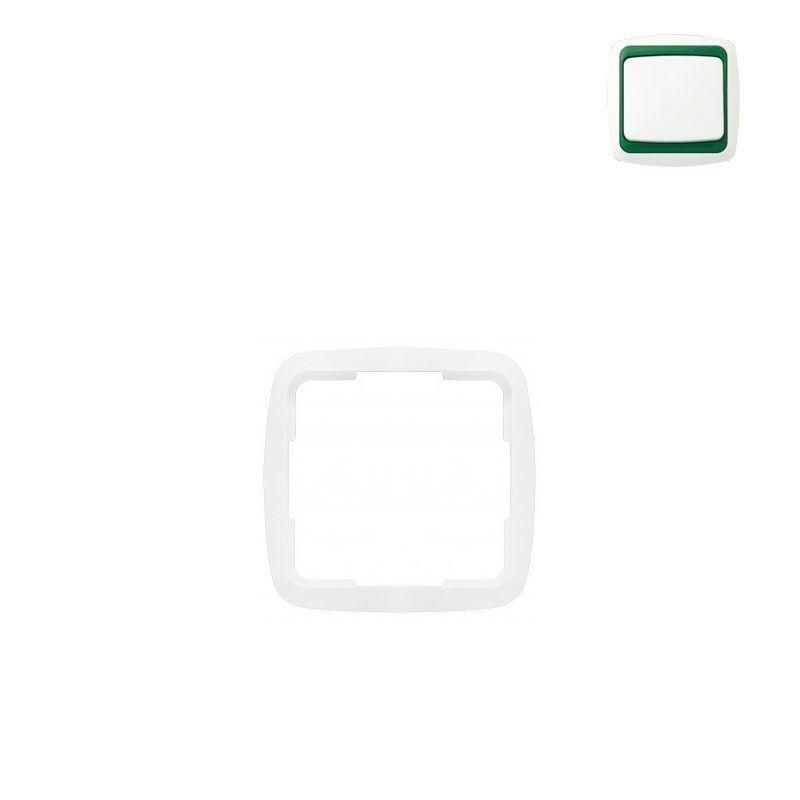 Marco simple blanco con embellecedor Niessen Arco