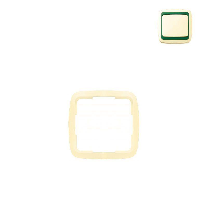 Marco simple marfil con embellecedor Niessen Arco