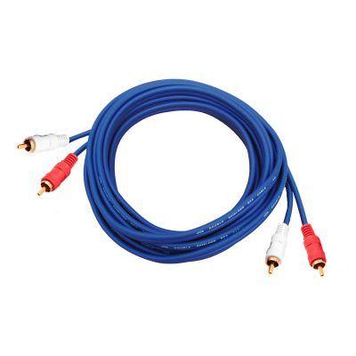 Cable 2 rca macho a 2 rca macho 5 metros