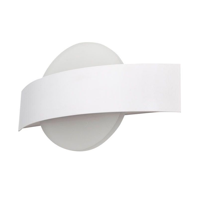 Aplique de pared led forma circular color blanco