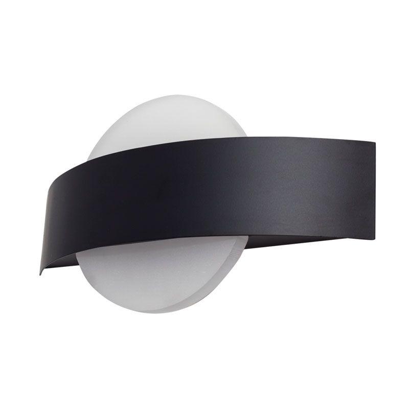 Aplique de pared led forma circular color negro