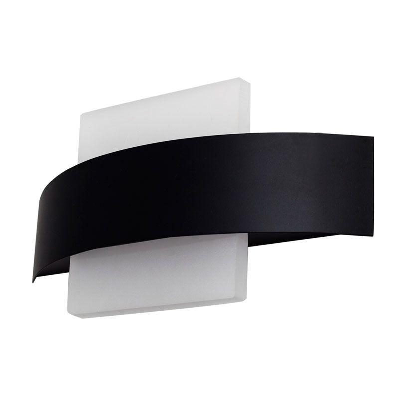 Aplique de pared led forma cuadrada color negro
