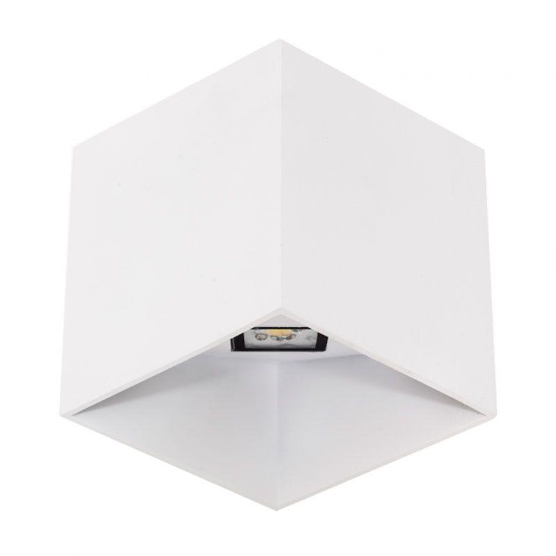 Aplique de pared led forma cubo color blanco