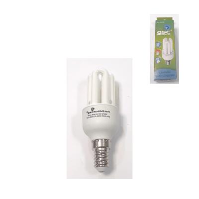 Bombilla ahorro 3U 9w E14 luz cálida