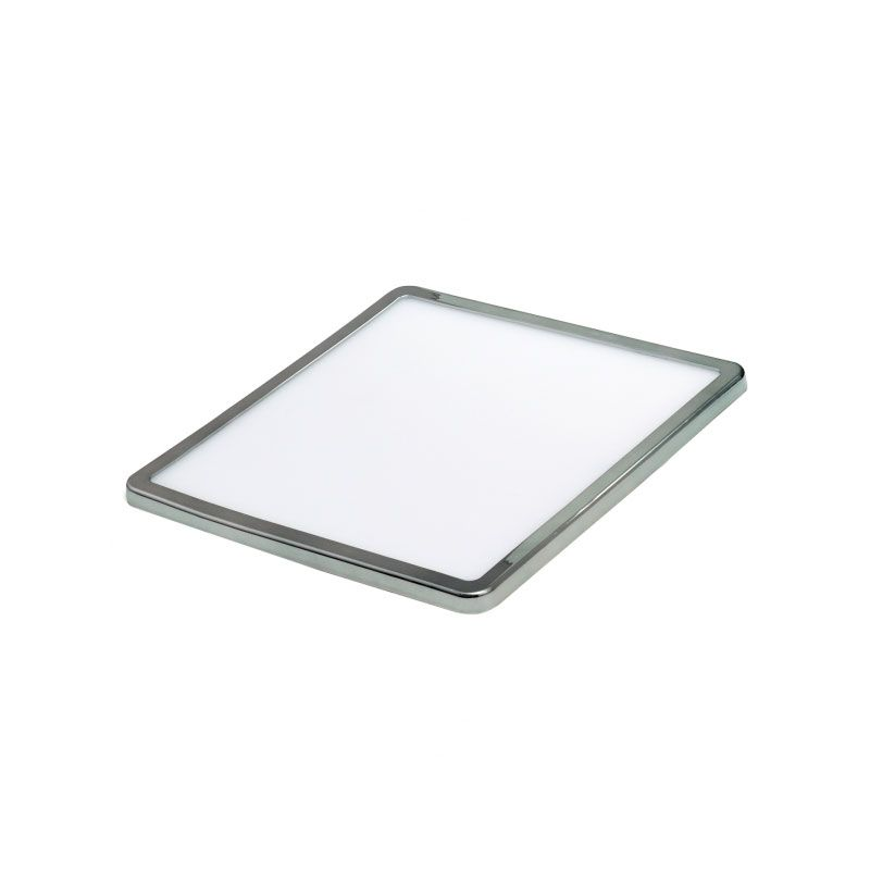 Dowlight cuadrado led ajustable al hueco color cromo