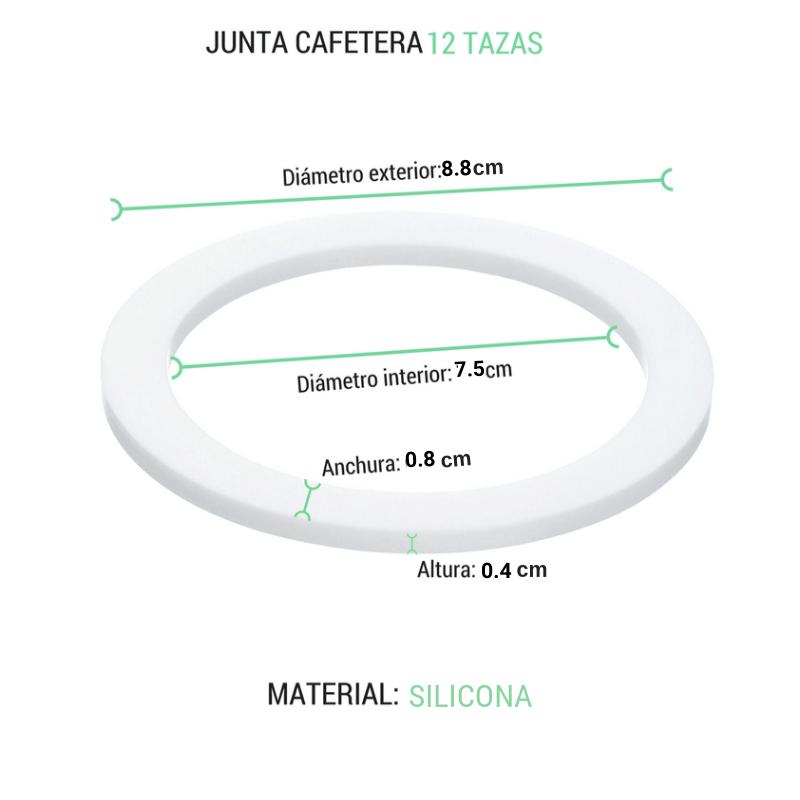 Junta cafetera 12 tazas silicona diametro 8.8cm