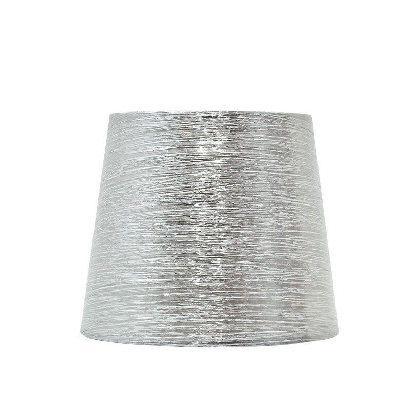 Pantalla de lámpara hilo plata brillo sobremesa forma cónica