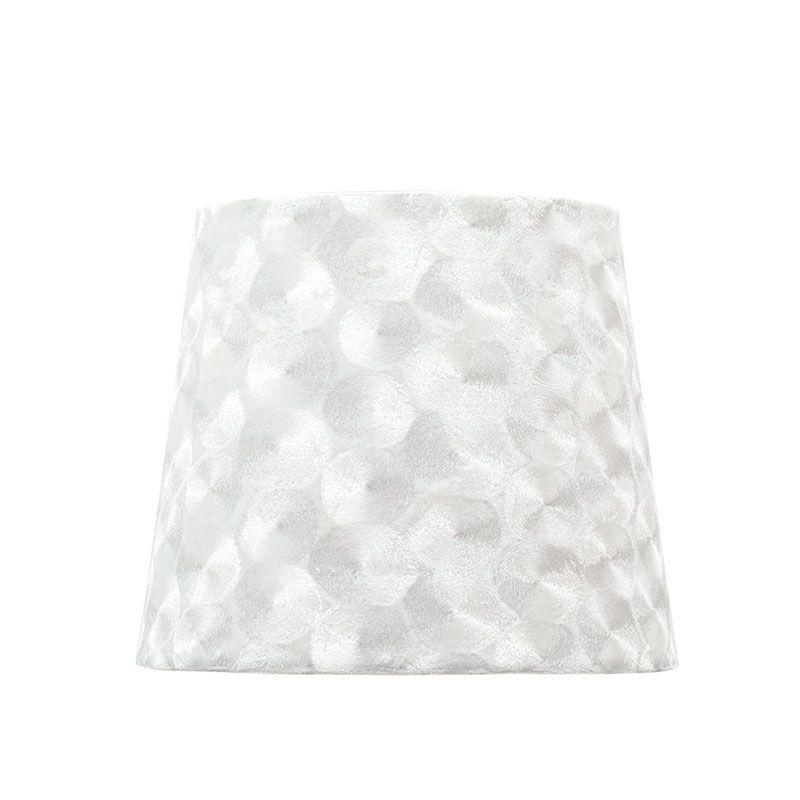 Pantalla de lámpara textura nacar sobremesa forma cónica