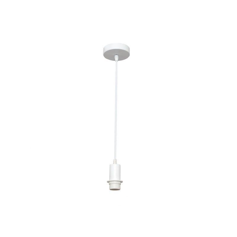 Cable de suspensión para lámpara blanco con rosca