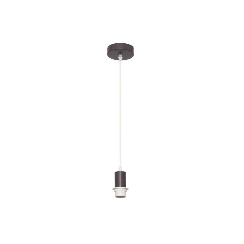 Cable de suspensión para lámpara marrón con rosca