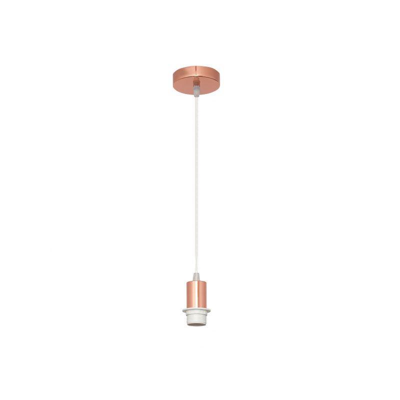 Cable de suspensión para lámpara rosa oro con rosca