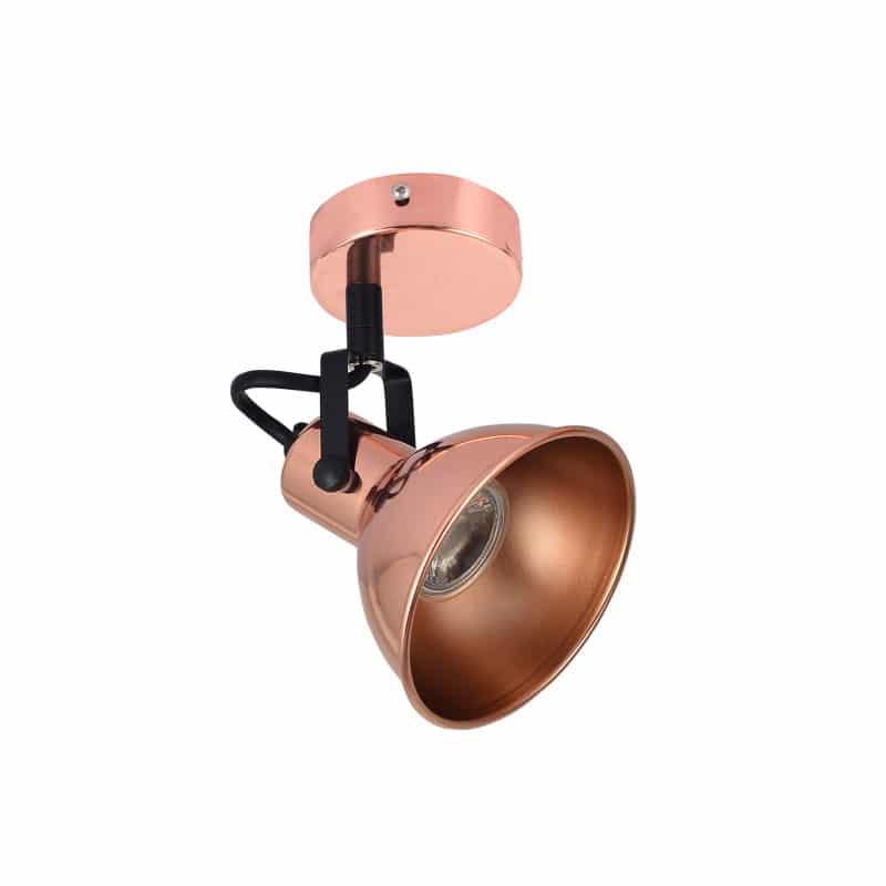 Foco de estilo rústico para superficie color cobre